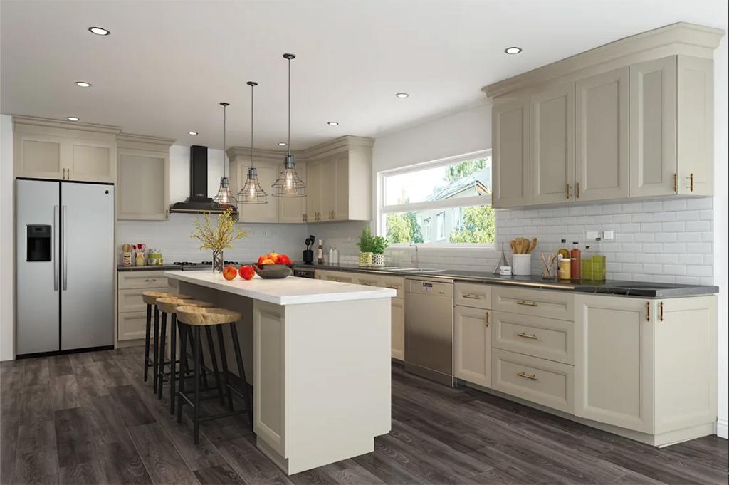 Grey stone kitchen